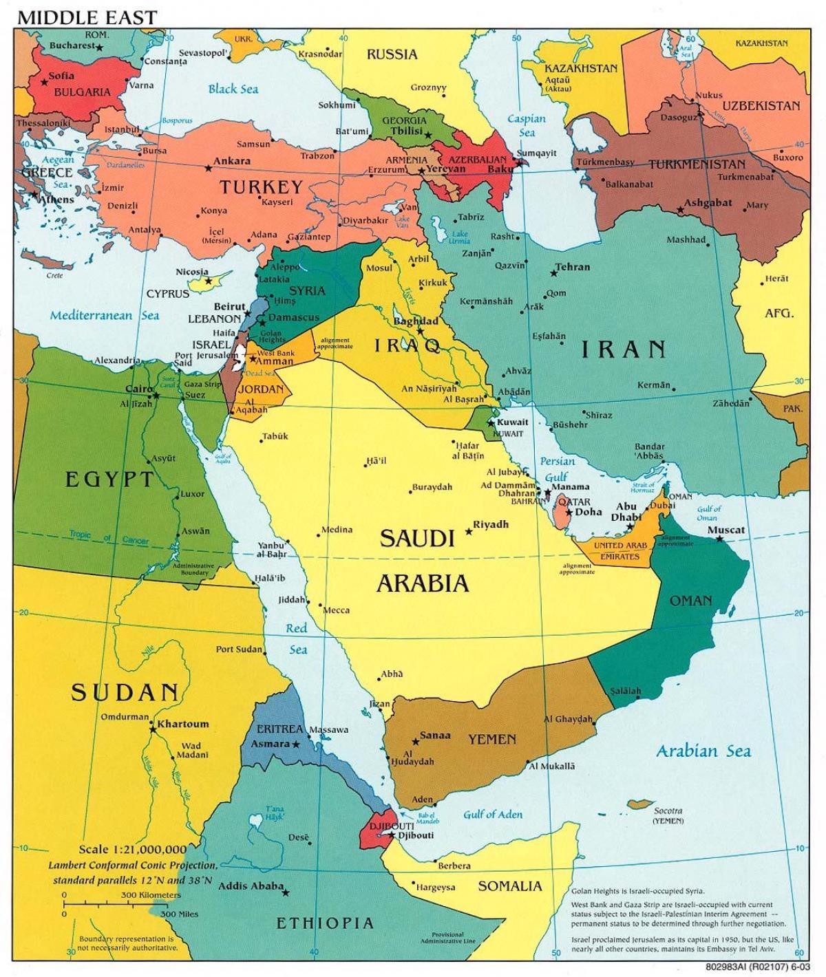 Cartina Asia Occidentale.Bahrain Mappa Del Medio Oriente Bahrain In Medio Oriente Mappa Asia Occidentale Asia